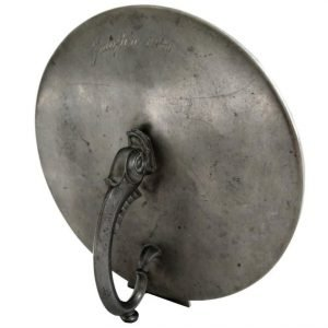 Pewter Hand Mirror in Swedish Grace Style, 1930s